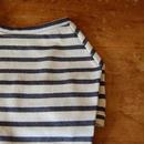 バスクボーダーシャツ(オフホワイト×グレー)