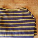 バスクボーダーシャツ(ブラック×マスタード)