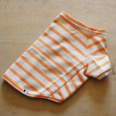 バスクボーダーシャツ(ベージュ×オレンジ)