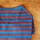 バスクボーダーシャツ(ブラウン×ライトブルー)