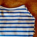 バスクボーダーシャツ(オフホワイト×サックス)