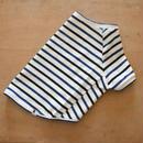 マルチボーダーシャツ(ホワイト×ブルーネイビー)