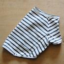バスクボーダーシャツ(ホワイト×杢グレー)
