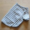 バスクボーダーシャツ(グレー×オフホワイト)