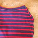 バスクボーダーシャツ(ネイビー×レッド)