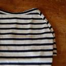 バスクボーダーシャツ(オフホワイト×ネイビー)