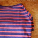 バスクボーダーシャツ(ネイビー×レッドオレンジ)