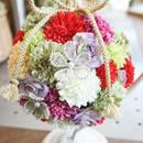 和装婚に♪卒業式&入学式のアクセに♪ピンポンマムのボールブーケ