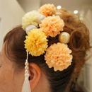 ビタミンカラーマムのティアラ風ヘッドドレス~Tiare du chrysanthème~
