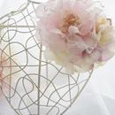 フェミニンなピンクカラーの組み合わせ♪ローズと紫陽花のコサージュ