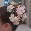 アレンジ自由♪SAKURAと紫陽花のヘッドドレス~Cherry blossoms in full bloom~