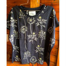 花刺繍Tシャツ(ブラック)