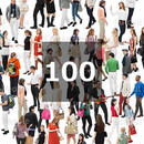 100個セット★人物切抜き素材-外国人カジュアル 1k014
