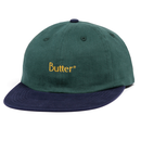 BUTTER GOODS  2-TONE BRUSHED 6 PANEL CA       NAVY / F.GREEN