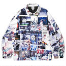 BORNXRAISED SHERM ALL OVER PRINT COACH JACKET