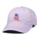 BUTTER GOODS  FLORAL 6 PANEL CAP, LAVENDER
