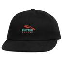 BUTTER GOODS  RACING 6 PANEL CAP       BLACK