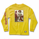 GRIZZLY XGRATEFUL DEAD   SKULL & ROSES L/S TEE  YELLOW