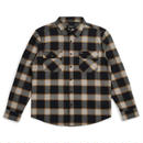 BRIXTON BOWERY FLANNEL BLACK/CREAM