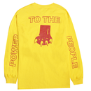 RARE PANTHER POWER TO THE PEOPLE  L/S TEE    YELLOW