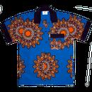 WAFFLESNCREAM  MANDILLAS SHIRT   BLUE/ORANGE