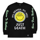 FLYING COFFIN JUST DEATH L/S TEE    BLACK