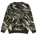 RIPNDIP TIGERNERM KNIT SWEATER GREEN CAMO