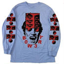 BOW3RY   HERLING L/S TEE  P,BLUE