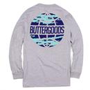 BUTTER GOODS    EXPRESS WORLDWIDE L/S TEE      HEATHER GREY