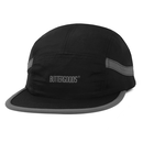 BUTTER GOODS TRACK 5 PANEL CAMP CAP     BLACK/GREY