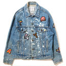 "【APPLEBUM】PLAY for APPLEBUM ""CRASH"" Alphabet Damage Denim Jacket"