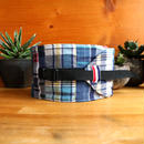 NECK COOLER  PATCHWORK CHECK BLUE