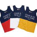 CHARI & CO NYC - BI-TONE TANK TEXT ( COLORS )