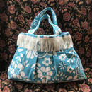 fluffy  bag blue flower