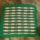 green knit blanket