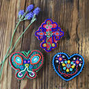 beads embroidery brooch
