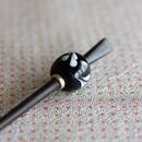黒玉 滴紋 蜻蛉玉簪