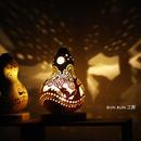 ひょうたんランプ---Sサイズ電池式LED キツネの森