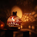 ひょうたんランプ--月夜の星の河 サクラ