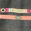 Set of 2 bless u beaded bracelets