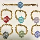 Initial lace bracelet