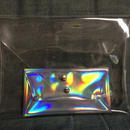 Clear clutch & holographic case set