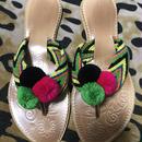 Wayuu pompom sandals
