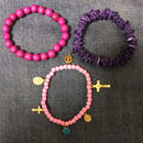 Happy & peace bracelets PINK