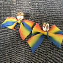 Swarovski & silk ribbon earrings