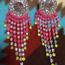 RPM chandelier earrings