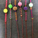 Pompom Friendship bracelet