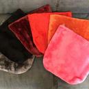 Square faux fur clutch