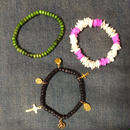 Happy & peace bracelets  BLACK