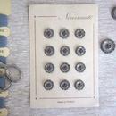 お花の形のボタンシート グレー(小)12個